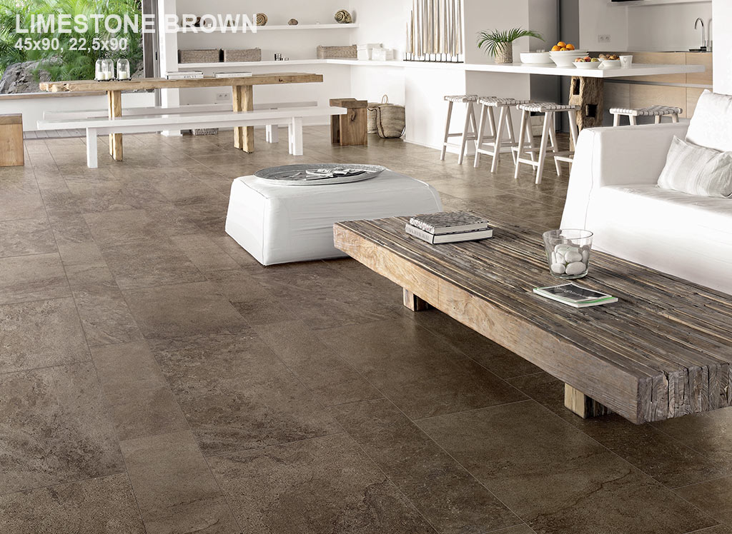 CARREAU LIMESTONE BROWN